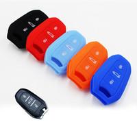 ingrosso tasti di gomma fob chiave-Fob coperture della copertura di chiave della cassa della gomma di silicone Smart Car a distanza per Citroen DS4 DS5 DS6 5LS DS3 3 pulsanti chiave