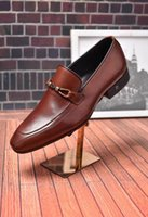 Wholesale Top Brand For Heels - Luxury Brand Genuine Leather Men Dress Shoes Oxfords Office Shoes For Business Men Shoes Formal Top Quality Loafers Big size 45