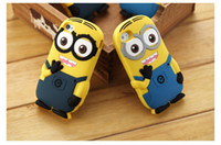 Wholesale Minions 3d Iphone 5c Case - For iphone 5 5c 6 Plus 3D Cute Minions Despicable Me2 Case Soft Silicone Cartoon Back Cover Smile Big Eye minions free FEDEX