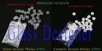 Wholesale Mixing Bowls Wholesale - 2016 50Pcs Lot Smoking Screen Bowl Scree Dia8MM For Smoking Bowl Hand Pipe Mixed Smoking Glass Screen 25pcs And Smoking Ceramic Screen 25pcs