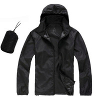 Wholesale Wholesale High Fashion Jackets - Wholesale- 2016 new Men's brand high-quality Softshell skin coat Sunscreen protection waterproof UVproof women Utralthin outwear jacket
