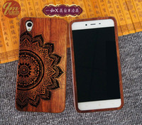Wholesale One X Housing - Unique pattern wood engraving case real rosewood phone cover for one plus x mobile phone back case wood frame housing for one plusx