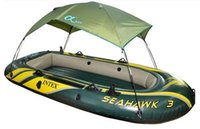 Wholesale Inflatable Kayaks - Intex Inflatable Boats Seahawk Series Kayaks Folding 1-2 Man Canopy Sun Shelter Intex Inflatable Boat Tent Canopy for Fishing Boat Sun Shade