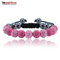 Wholesale Shamballa Clay Pave Beads - Big Sale Shamballa Bracelets & Bangles Pave 10mm Crystal AB Clay Ball(11Pcs) Shamballa Bracelet Mix Colors Pulseras SHAFSmix1