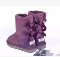 Wholesale Black White Heeled Boots - Price promotions 2017 new fashion Australian classic 3280 high winter boots women boots snow boot