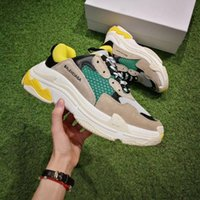 Wholesale Professional Canvas Printing - Retro BL Triple S Sneakers for men women Kanye West Old Grandpa Trainers Running shoes Professional Sneaker fashion shoe outdoor boots