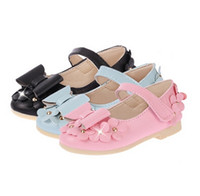 Wholesale Kids Dressing Shoes - 2016 Leather Shoes Children Shoes Kids Footwear Fashion Casual Princess Dress Shoes Children Dress Shoes Girls Dress Shoes
