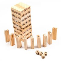 2017 New Wooden Tower Wood Building Blocks Toy Domino 54 4pcs Stacker Extract Building Educational Jenga Game Gift