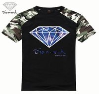 Wholesale Skating Clothes - Newest men short sleeve t shirt diamond supply co hip hop fitness skate clothing fashion brand camisetas hombre tee shirt homme