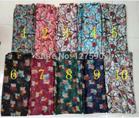 Wholesale Owl Print Scarves - 2015 Fashion Women cute Owl Print Scarf Wrap Animal Shawl Hijab Mix Color 10pcs lot Free Shipping