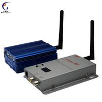 transmissor sem fio fpv venda por atacado-FPV 2.4 GHz 8CH 5000 mW de longo alcance transmissor de vídeo sem fio e receptor TX RX Frete Grátis