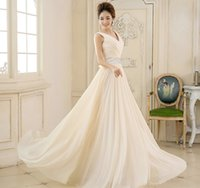 Wholesale Chiffon Dinner Dresses - Fashion Long Evening Dresses 2016 New Bridal Banquet Dinner V-neck Sequined Elegant High-grade Party Gown Pluss Size Prom Dresses