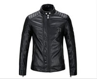 Wholesale new winter men motorcycle leather collar Slim Men s leather jacket coat