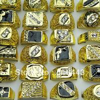nova joia checa venda por atacado-Nova Chegada 10 pcs Atacado Moda Jóias Strass Tcheco Esmalte Banhado A Ouro Dos Homens Anéis A-051