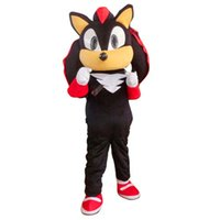 Wholesale Sonic Hedgehog Costume Adults - Shadow the Hedgehog Black Sonic Mascot Costume Fancy Dress Adult Free Shipping