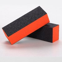 Wholesale 1PC Black Color Way Sponge Nail Buffing Sanding Polishing Block Professional Nail File Buffer Women Manicura Nail Art Tools