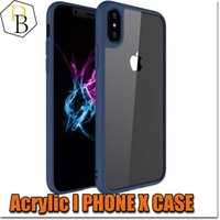 Wholesale Two Phones One Case - For iPhone X iphone8 all-inclusive anti-drop tpu+plastic two-in-one protective cover transparent eye Acrylic 0.38mm Apple phone case