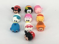 Wholesale Mario Accessories Wholesale - 100pcs lot TSUM Toys Cute Mini Mickey Minnie Winnie the Pooh cartoon educational toys Sound Production TSUM Set Decoration