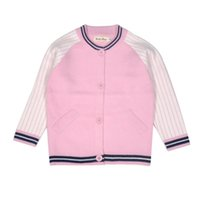 Wholesale Childrens Sportswear - 2016 Fashion Outwear Autumn Baseball Sportswear Sweaters Boys Girls Childrens Clothing Patchwork Knitted Long Sleeve Cardigan Kids Clothes