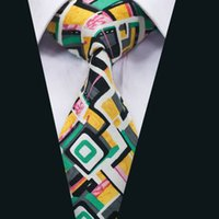Wholesale Yellow Neckties For Men - Classic Men Ties Colorful Cotton Mens Neckties High Quality Neck Ties for Business Wedding Party Gift Free Shipping D-1346