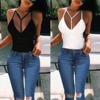 Wholesale Solid Tank Tops - Fashion Women Girls Sexy Crop Tops Camisole Vest Bustier Bralette Cotton Blend Sleeveless Casual Tanks Tops ED544 Free Shipping