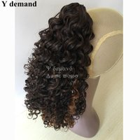 Cool Hair Accessories Extensions Mulheres Longas Marrons Ondulado Curly Claw afro Kinky Ponytail Drawstring Hot For Black Women Y demand