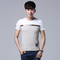 Wholesale Organic Mens Shirts - Wholesale Price Man T-Shirt Fashion New Italy Luxury Brand Short Sleeve O Neck Mercerized Cotton T Shirt Mens High Quality Promotion Hot