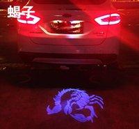 ingrosso logo blu dell'auto rosso-Super Bright 12V 3w Led auto coda logo luce decorativa per la retromarcia con logo o altri motivi