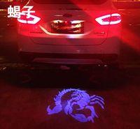logo del coche azul rojo al por mayor-Super Bright 12V 3w llevó la lámpara decorativa ligera del logotipo de la cola del coche para la conducción reversa con el logotipo u otro patrón