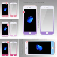 Wholesale Glittering Screen - 3D Curved Bling Tempered Glass For Iphone 7 I7 Iphone7 Plus 6 6S Phone Full Coverage Glitter Front Back Screen Protector Film Skin Package