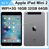 Wholesale Refurbished Apple Mini Ipad - Refurbished Original Apple iPad Mini 2 2nd Generation WIFI + 3G Cellular 7.9 inch IOS A7 16GB 32GB 64GB Retina Display Warranty Included DHL