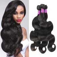 Wholesale Derun Virgin Hair - peruvian 100% human hair wave 3 Bundles remy hair extensions body wave derun body wave hair weaves top selling peruvian grade 7a hair