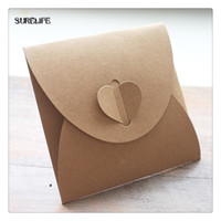 Wholesale Dvd Envelopes - 20 x Kraft Paper CD Sleeves Discs DVD Packaging Bag Box CD Case Cover Envelope For Wedding Event Party