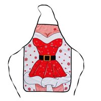 Wholesale Sexy Ladies Christmas Cloth - 2016 new sexy ladies apron hot Merry Christmas decorations for Christmas Apron party ornaments Free shipping