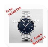 Wholesale Gents Bracelets - free hk shipping _Absolute luxury New AR1648 1648 Men's Blue Dial Bracelet Watch Gents Wristwatch+original box