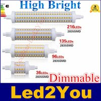 R7s led 118mm dimmable Prix-R7S Lampe LED ampoule 78mm 118mm 135mm 189mm AC 85-265V 7W 14W 18W 25W Dimmable 360 ​​Type lumière froide blanc chaud