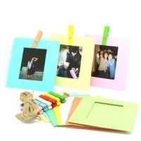 Wholesale Polaroid Photos - 10 Pcs Paper Photo Frame Set For Fujifilm Instax Polaroid Mini Films