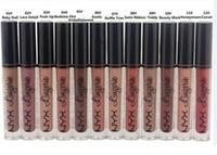 nyx lip lingerie al por mayor-Venta al por mayor envío libre de DHL Nuevo maquillaje Labios NYX Labio de la ropa interior Mate Brillo de labios Líquido Mate Lápiz labial