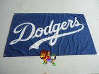 Wholesale Dodgers Banner - Los Angeles Dodgers Flag 3x5 FT 150X90CM Banner 100D Polyester flag
