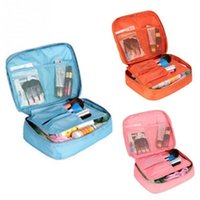 Wholesale Hanging Makeup Case - Waterproof Travel polyester Cosmetic Makeup Toiletry Case Wash Organizer Storage Pouch Hanging Bag