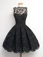 Wholesale Vestidos Sweet 16 Shorts - Real Photos Black Sweet 16 Dresses Cocktail Dress Short Lace Jewel Ball Gown Events Party Gowns Evening Dress Vestidos De Festa 2016