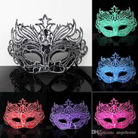 Wholesale Crown Spray Paint - 6colors Fashion men mask Crack crown mask dance party mask surface spray paint baron prince dance mask Halloween Costume Party Mask