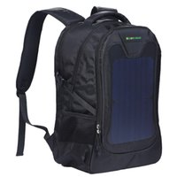 Wholesale Backpack Solar Panel - Original waterproof 5V Solar Battery Charging Business Travel Backpacks Bags Tourism Solar Panel USB Output Charger computer sports bag