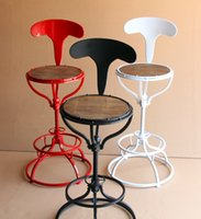 Wholesale Bar Stool Iron - Wrought iron bar chair.. Household stool chair restoring ancient ways