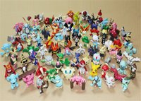 Wholesale 150pcs set Poke Action Figures Toys cm Multicolor Pikachu Cartoon Charizard Eevee Bulbasaur Suicune PVC Mini Model Toy Kids Birthday Toys