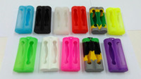 Wholesale Battery C4 - Colorful Double Silicone Case for Two 18650 battery protective case electronic cigarettes silicon cases bag box for Sony vtc4 c4 LG HE4
