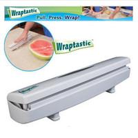 Wholesale Foil Wrap Dispenser - Plastic Food Wrap Dispenser Wraptastic Aluminum Foil Cling Wrap Wax Parchment Paper Cutter Wrap Food Fresh