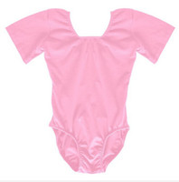 Wholesale Leotards Cm - Short Sleeve Gymnastics Ballet Dance Leotard Kids Girls Dancewear Customes Free Shipping