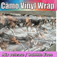 Wholesale Car Sticker Tree - hot! Realtree Camo Vinyl wrap real tree leaf camouflage Mossy Oak Car wrap Film foil for Vehicle skin styling covering stickers