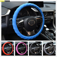 Wholesale Swirl Cover - XUKEY Leather Texture Car Auto Swirl Silicone Steering Wheel Cover Hand Skidproof Glove Soft Shell Odorless Protector Non Slip
